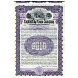 Capital City Power Co., 1907 Specimen Bond