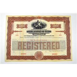 Niagara, Lockport and Ontario Power Co., ca.1900-1920 Specimen Bond