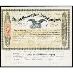 United States Petroleum Co., c. 1860's Stock Certificate