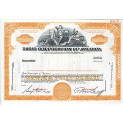 Radio Corp. of America, ca.1950-1960 Specimen Stock Certificate