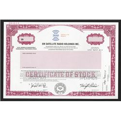XM Satellite Radio Holdings Inc., 2000 Specimen Stock Certificate.