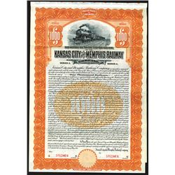 Kansas City and Memphis Railway Co., 1911 Specimen Bond.