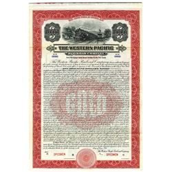 Western Pacific Railroad Co., 1916 Specimen Bond