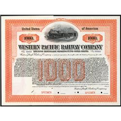 Western Pacific Railway Co. ca.1910-1920 Specimen Bond.