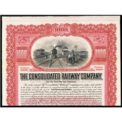 Consolidated Railway Co. Specimen Bond