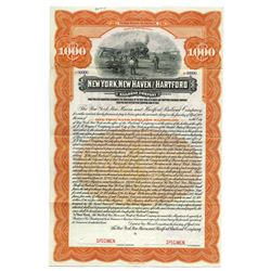 New York, New Haven and Hartford Railroad Co., 1916 Specimen Bond