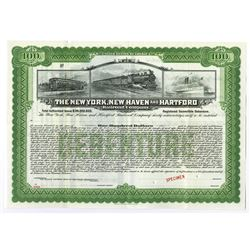 New York, New Haven and Hartford Railroad Co., 1923 Specimen Bond