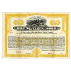 New York, New Haven and Hartford Railroad Co., 1925 Specimen Bond