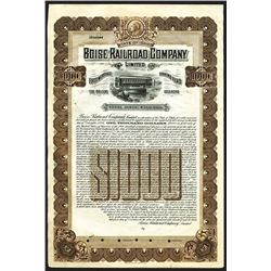 Boise Railroad Co. Ltd., 1906 Specimen Gold Bond.