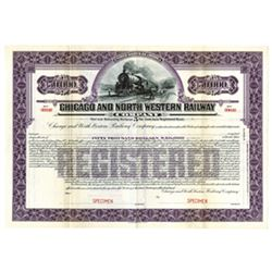 Chicago and North Western Railway Co., ca.1900-1910 Specimen Bond