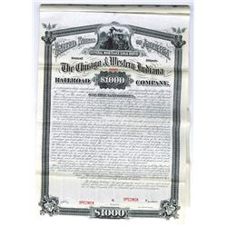 Chicago and Western Indiana Railroad Co., 1882 Specimen Bond