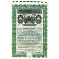 Chicago, Burlington & Quincy Railroad Co., 1908 Specimen Bond