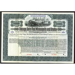 Chicago, Saint Paul, Minneapolis and Omaha Railway Co. 1930 Specimen Bond