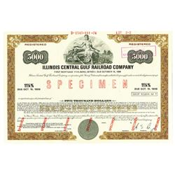 Illinois Central Gulf Railroad Co., 1974 Specimen Bond