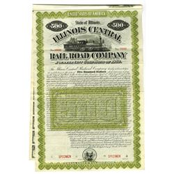 Illinois Central Rail Road Co., 1888 Specimen Bond