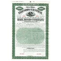 Illinois Central Rail Road Co., 1892 Specimen Bond