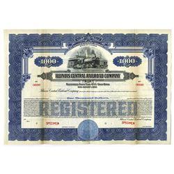 Illinois Central Railroad Co., 1926 Specimen Bonds