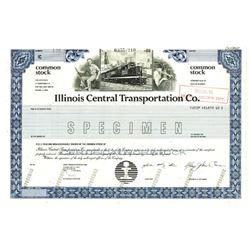 Illinois central Transportation Co., 1988 Specimen Stock Certificate