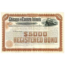 Chicago and Eastern Illinois Railroad Co., 1937 Specimen Bond