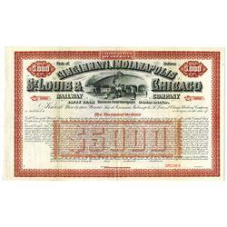 Cincinnati, Indianapolis, St. Louis & Chicago Railway Co., ca.1900-1920 Specimen Bond