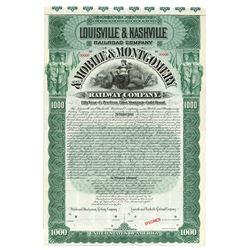 Louisville & Nashville Railroad Co. & Mobile & Montgomery Railway Co., Specimen Bond.