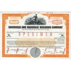 Louisville and Nashville Railroad Co., 1975 Specimen Bond