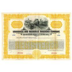 Louisville and Nashville Railroad Co., ca.1900-1920 Specimen Bond