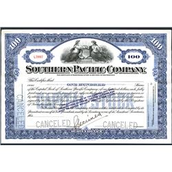 Southern Pacific Co., ca.1910-130's, Specimen Stock Certificate.