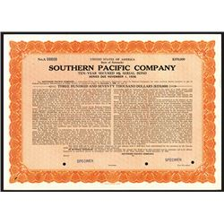 Southern Pacific Co., Specimen Stock Certificate.