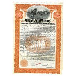 City of New Orleans Public Belt Railroad Bond of the City of New Orleans, 1909 Specimen Bond