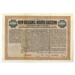 New Orleans and North Eastern Railroad Co., 1916 Specimen Bond