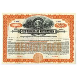 New Orleans and North Eastern Railroad Co., 1917 Specimen Bond