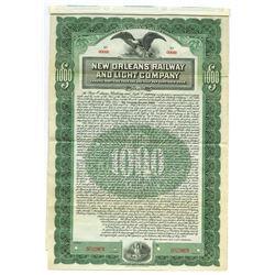 New Orleans Railway and Light Co., 1905 Specimen Bond