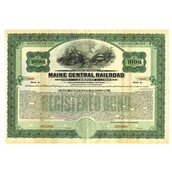 Maine Central Railroad Co., 1926 Specimen Bond