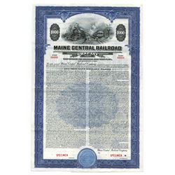 Maine Central Railroad Co., Specimen Bond.
