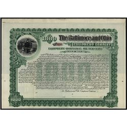 Baltimore and Ohio Equipment Co., Specimen Bond.