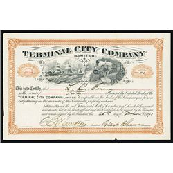 Terminal City Co. Issued Stock Certificate.