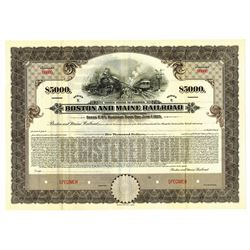 Boston and Maine Railroad, 1920 Specimen Bond