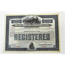 Lake Shore & Michigan Southern Railway Co. 19xx, ca. 1900-1910 Specimen Bond.