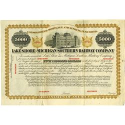 Lake Shore and Michigan Southern Railway Co., 1870 Specimen Bond.