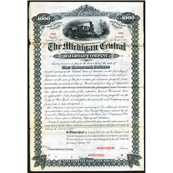 Michigan Central Railroad Co., 1879 Specimen Bond