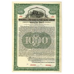 Minneapolis, St. Paul & Sault Ste. Marie Railway Co., 1923 Specimen Bond