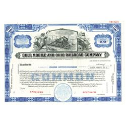 Gulf, Mobile and Ohio Railroad Co., ca.1940-1950 Specimen Stock Certificate