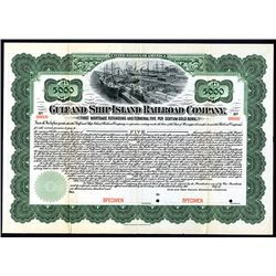 Gulf and Ship Island Railroad Co., ca.1900-1930's Specimen Stock Certificate.