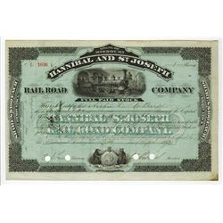 Hannibal and St. Joseph Rail Road Co., 1893 Issued Stock Certificate