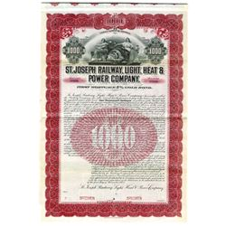 St. Joseph Railway, Light, Heat & Power Co., 1902 Specimen Bond