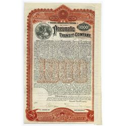 Pneumatic Transit Co., Issued Bond.
