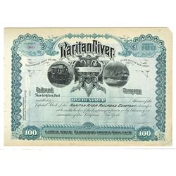 Raritan River Railroad Co., ca.1880-1900 Specimen Stock Certificate