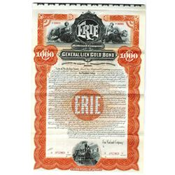 Erie Railroad Co., 1895 Specimen Bond
