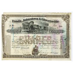 Fonda, Johnstown & Gloversville Railroad Co., 1904 Issued Stock Certificate